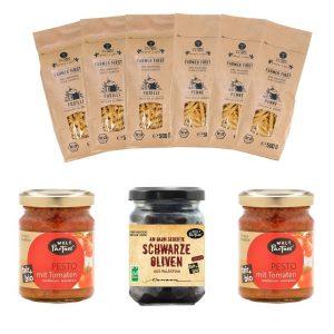 Bio-Pasta Vegan Mix aus fairem Handel.