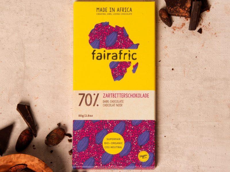 bio-zartbitterschokolade fairafric vegan