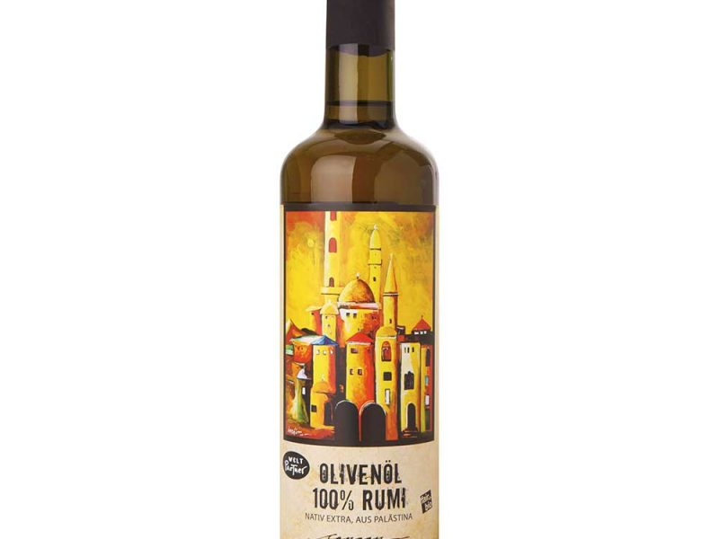 Olivenöl 100% Rumi, kaltgepresst, nativ extra, bio, fair.